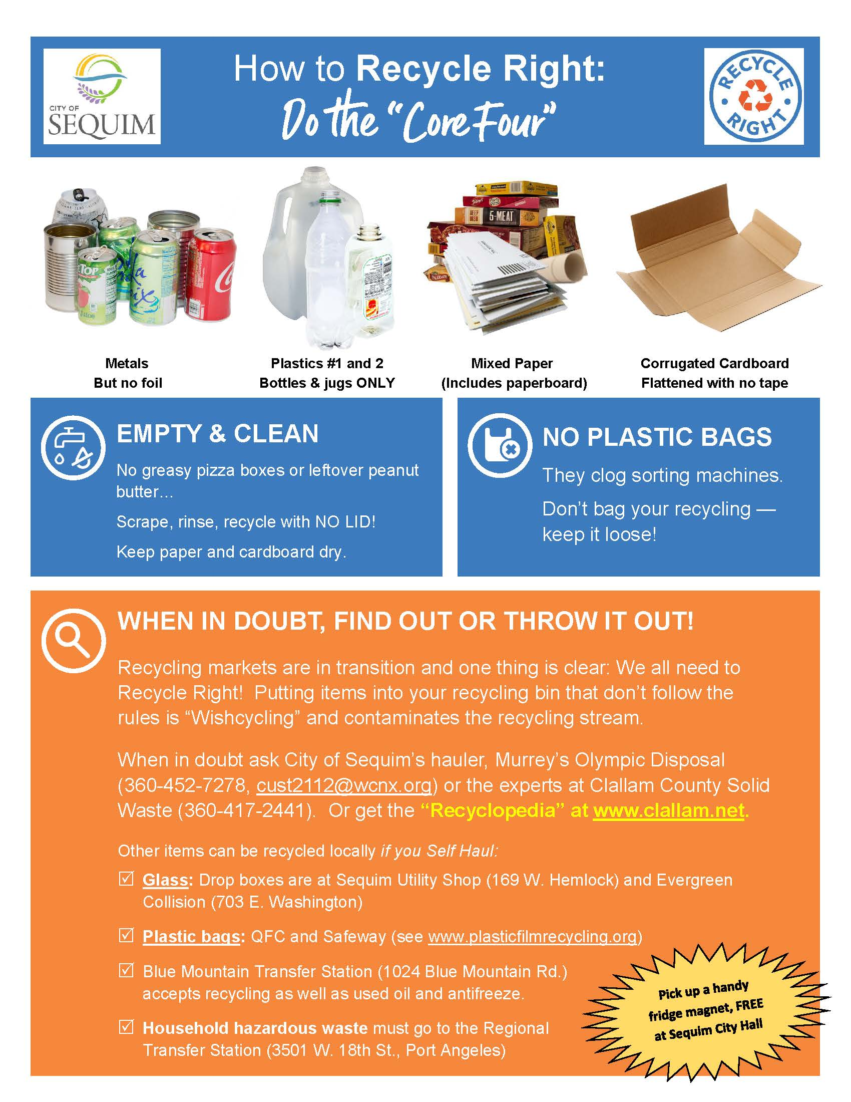 Recycling info flyer page 1